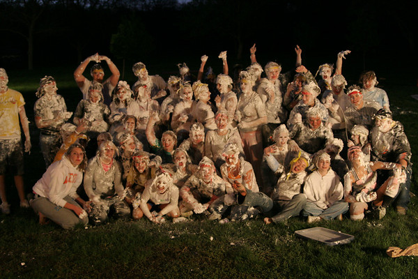 Shaving Cream War Night - Large Group Shots