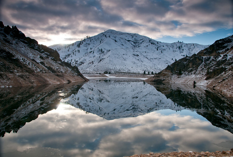 Reflections on a Idaho Morning.   Arrowrock Reservoir,  Id.