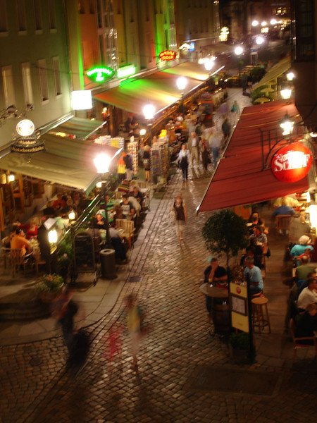 At night I roamed the beautiful streets of the old city.