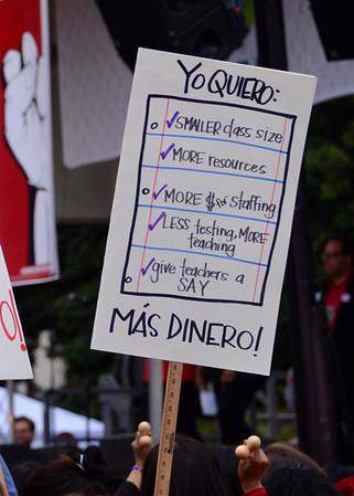 UTLA Teachers Rally