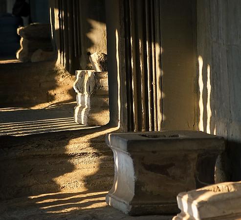Shadows. Angkor Wat, Cambodia