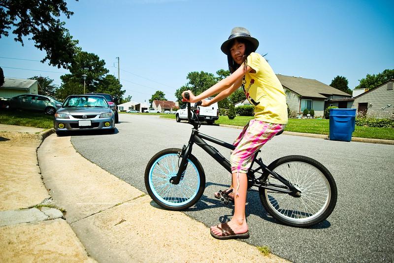 06/22/2012 - Niece riding the BMX