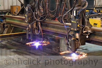 Plasma cutter at Gunderson.