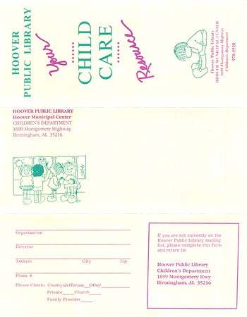 Flyers, Calendars & Correspondence 1988