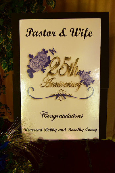 Pastor & Wife 25th Anniversary