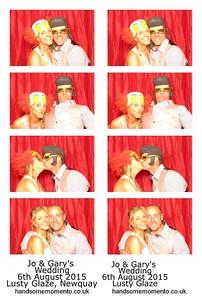 Jo and Gary's Wedding at Lusty Glaze , Newquay 06-08-2015