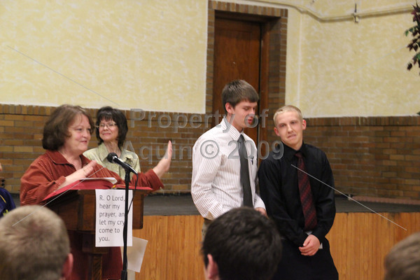 medal presentation to state athletes (and lucas) . 3.27.12