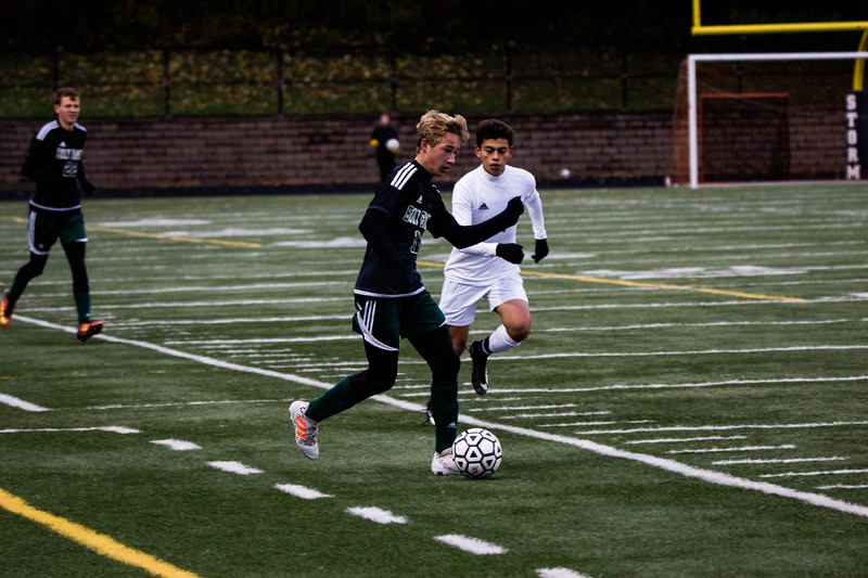 Holy Family Varsity Soccer vs. Monticello Oct 11, 2018: Bishop Schugel '21 (11)