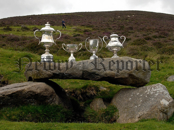 The Trophys displayed at Poc Fada on Saturday. 07W32S253
