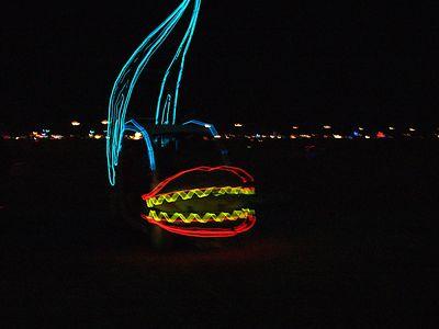 Burning Man 2004 Night on The Expanse