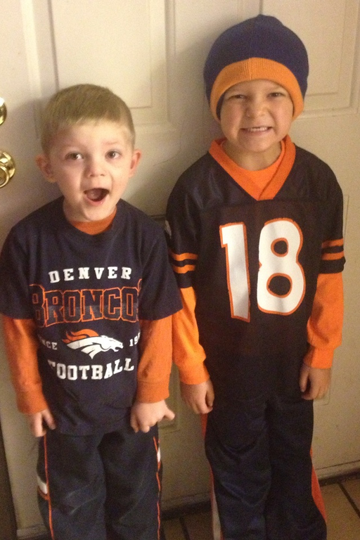 . My boys united in orange! Headed to school, united in orange!  Jodee Brown