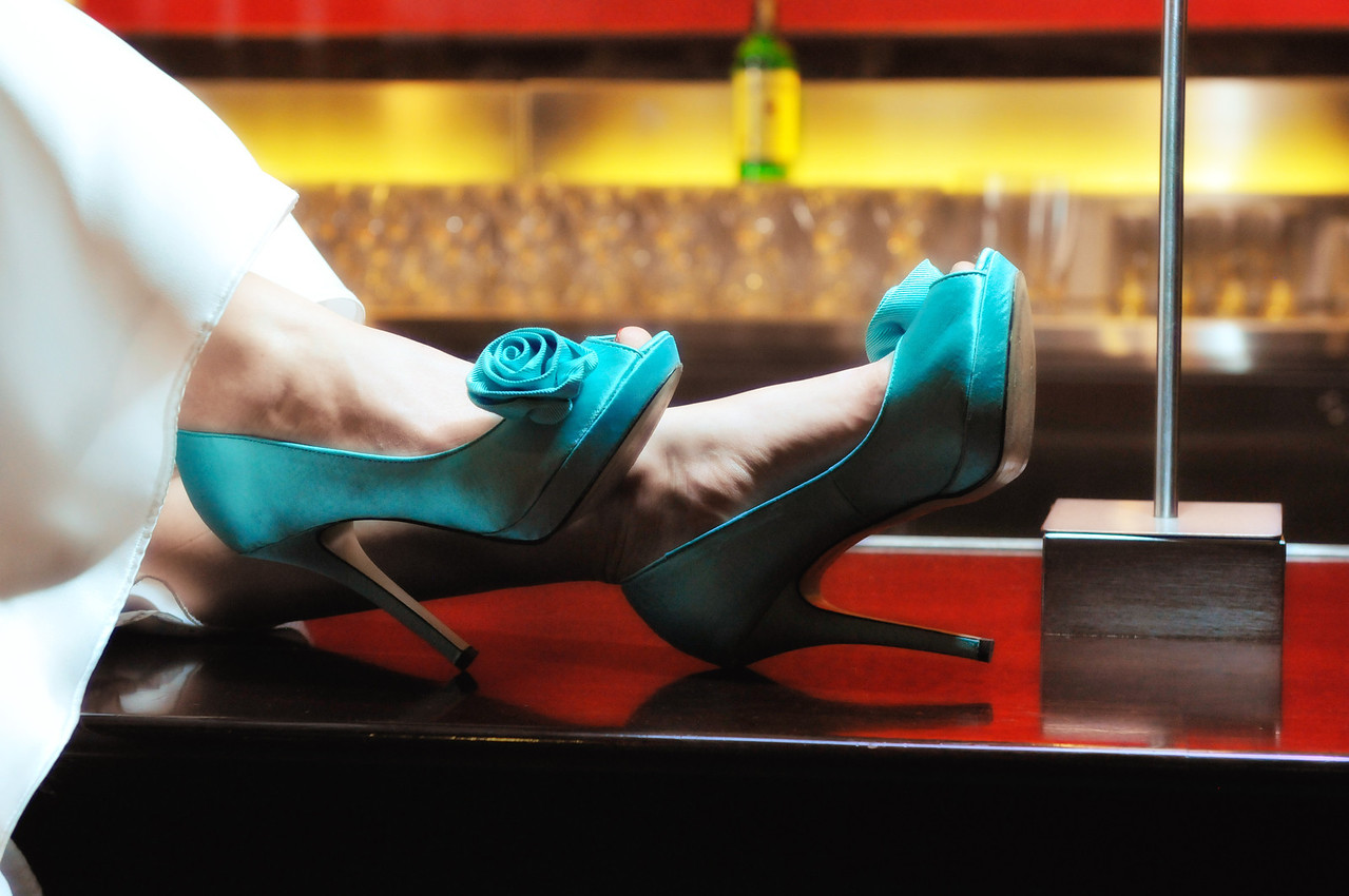 kevin taylor opera house wedding blue bride  shoes