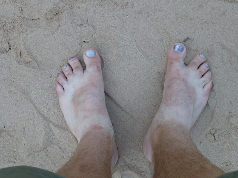 Nice toenails Peter.