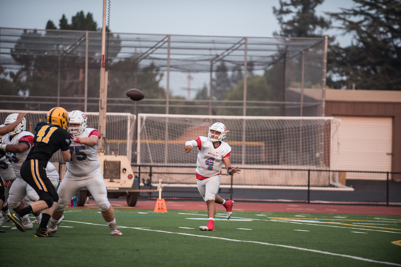 Taken during a High School Football game played at Mountain View High School in California between MVHS and North Salinas