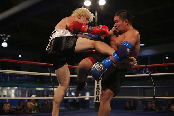 Ben Tynan (red) vs. Jordan Sherrier (blue)