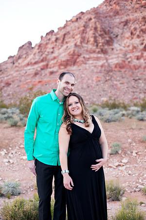 Kara & Mark {Red Rock Canyon Maternity session}