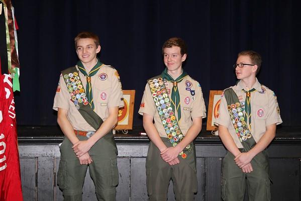 Eagle Ceremony: Stadler, Champion, Schwartz
