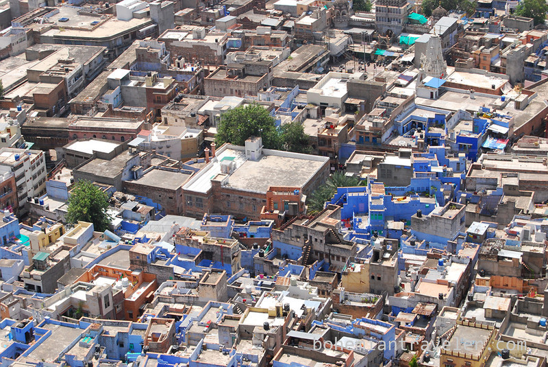view of the Blue City from Mehrangarh Fort in Jodhpur.jpg