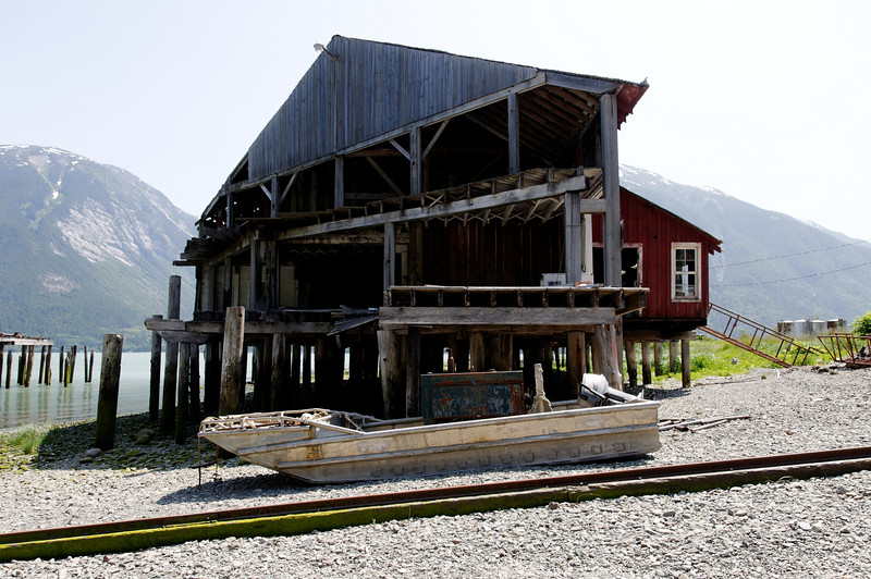 The old cannery building. The upper loft was for drying nets, the lower for canning.