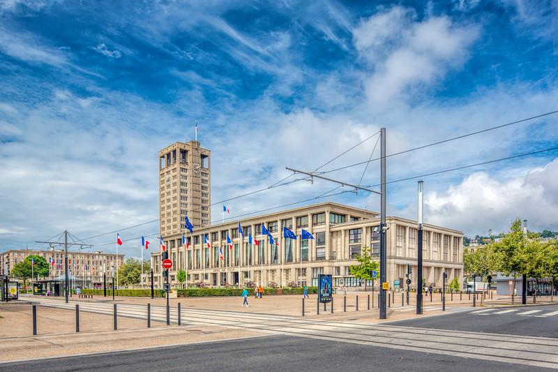 Hotel de Ville (City Hall), Le Havre, France.