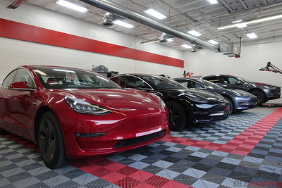 Tesla Model 3 - Three In the Shop