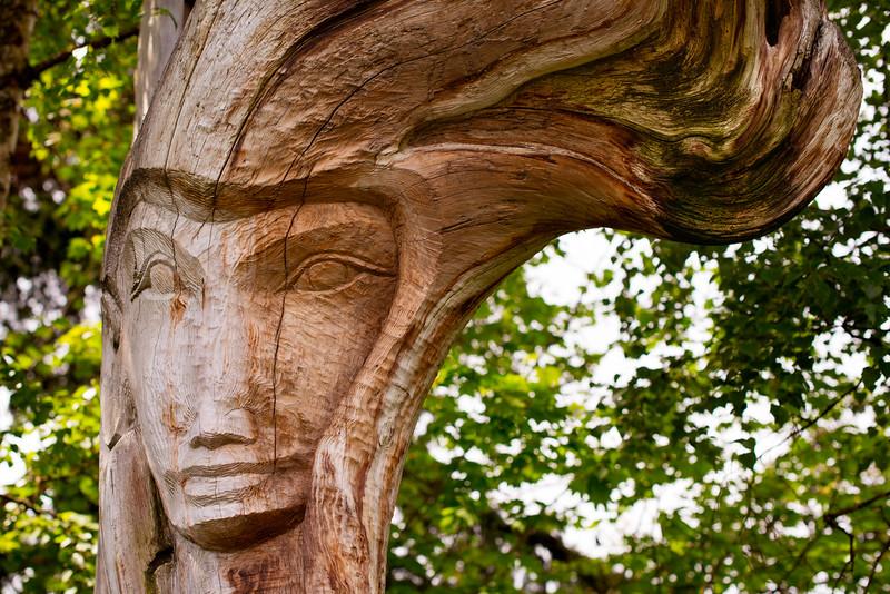 A Wood Sculpture at Medina Park