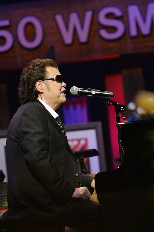 . Country musician Ronnie Milsap performs at the funeral service for George Jones at The Grand Ole Opry on May 2, 2013 in Nashville, Tennessee.   (Photo by Rick Diamond/Getty Images for GJ Memorial)