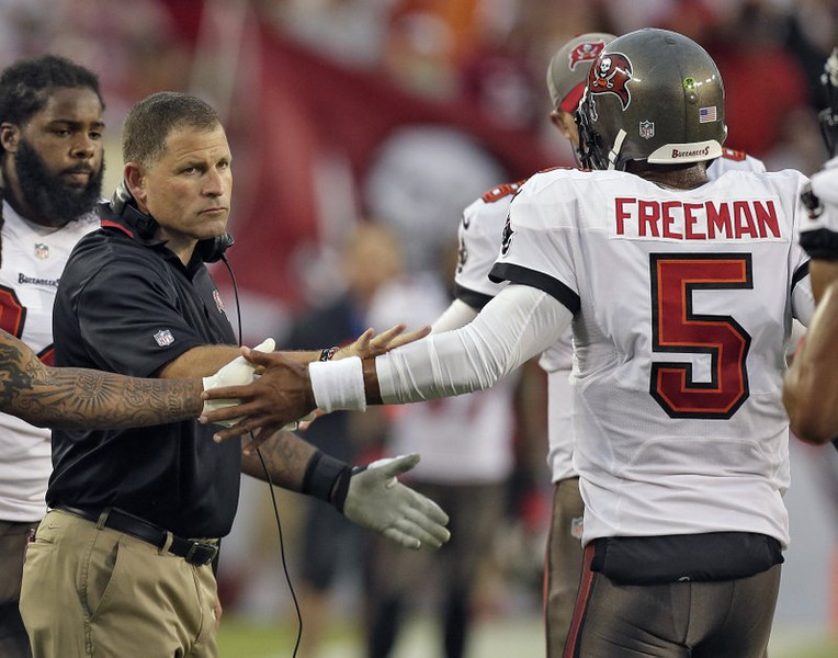 """. <p>7. (tie) JOSH FREEMAN  <p>Tampa Bay quarterback leaves the sinking ship, but the rats remain. (unranked) <p><b><a href=\'http://espn.go.com/nfl/story/_/id/9764541/tampa-bay-buccaneers-release-josh-freeman\' target=\""""_blank\""""> HUH?</a></b> <p>    (AP Photo/Chris O\'Meara, File)"""