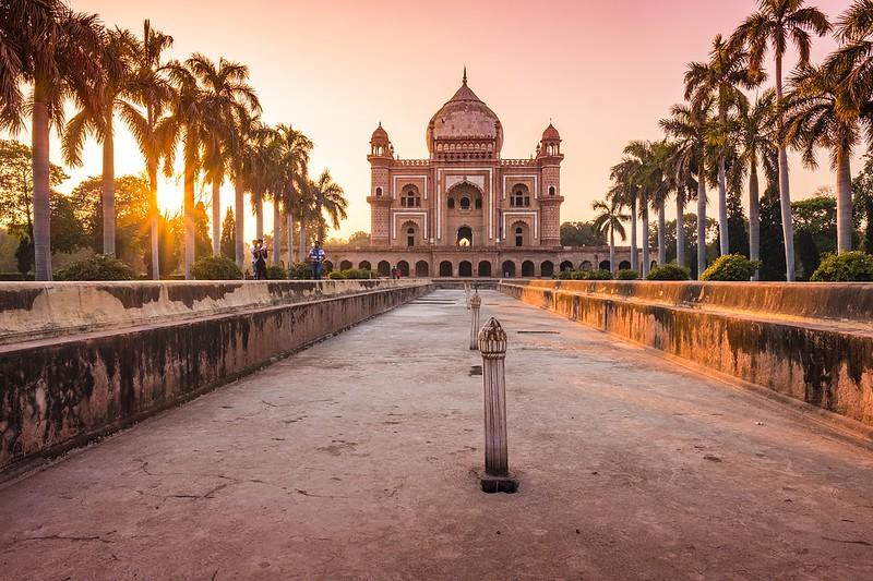 Delhi India at sunset