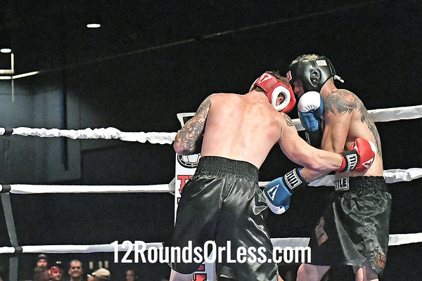 Bout 3 Amateur Boxing Hunter Haines, Red Gloves -vs- Jake Wickline, Blue Gloves