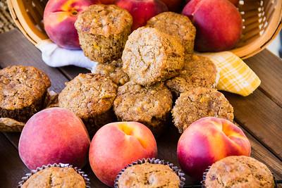 Gluten-Free Vegan Peach-Walnut Muffins