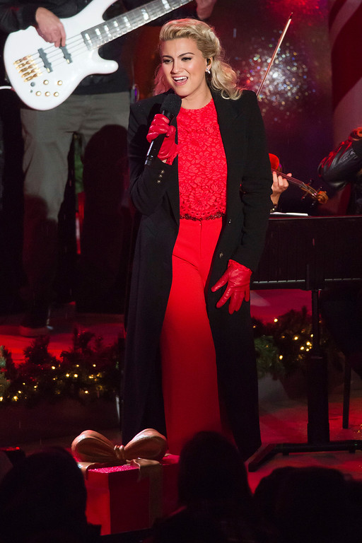 . Tori Kelly performs at the 84th Annual Rockefeller Center Christmas Tree lighting ceremony on Wednesday, Nov. 30, 2016, in New York. (Photo by Charles Sykes/Invision/AP)