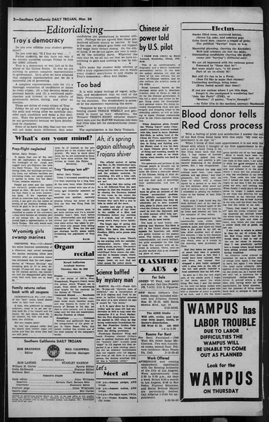 Daily Trojan, Vol. 34, No. 111, March 24, 1943