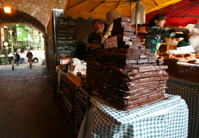 Yes, a big stack of brownies - Borough Market.