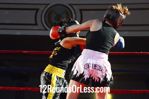 Bout #13  Gia Genco-Brown, West Side Boxing Club  vs  Angel Fransisco, Fransisco BC, Louisville, KY,   119 Lbs. - Novice