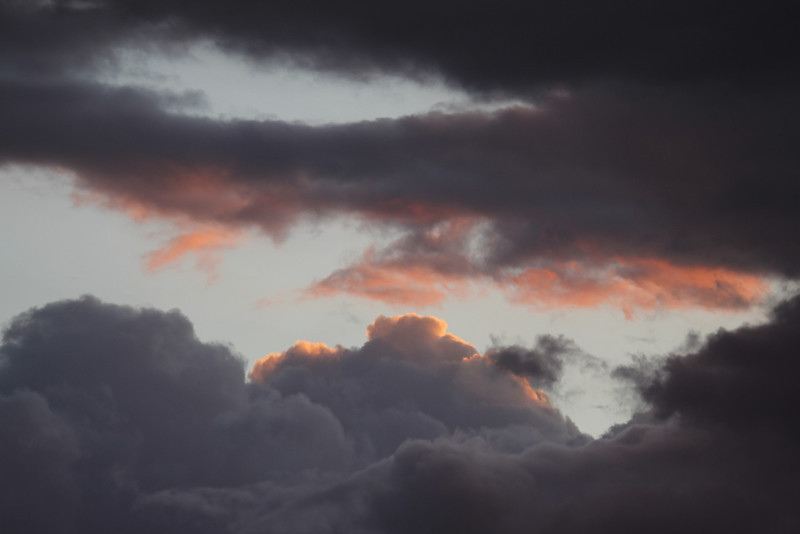 clouds after sunset