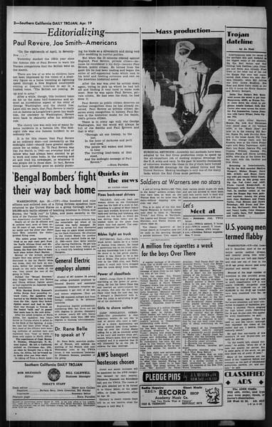 Daily Trojan, Vol. 34, No. 129, April 19, 1943