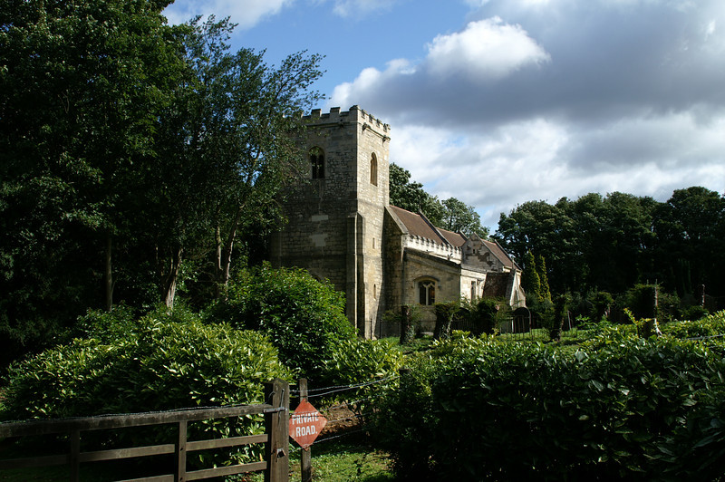 Church with tower in Yorkshire