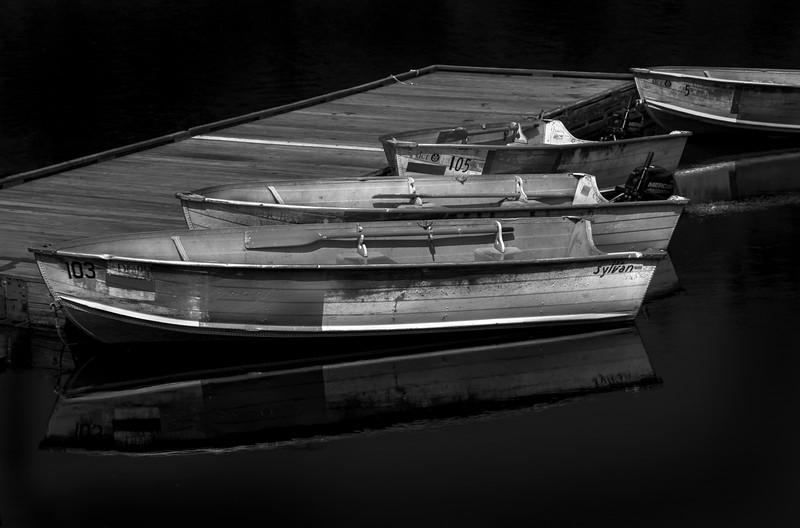 Boats at Quabbin Reservoir