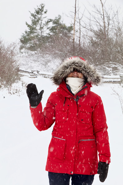 Snow on Cordova Spit