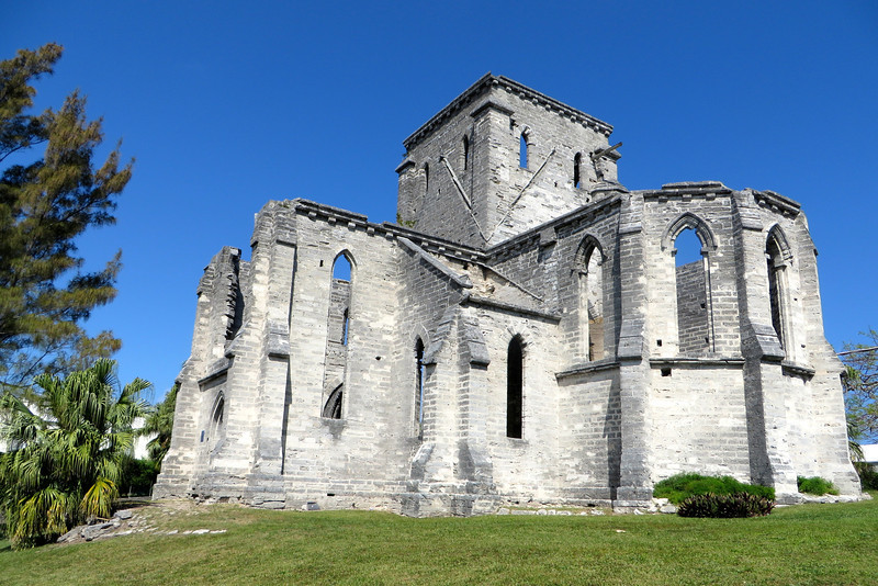 "Construction began in 1874 to replace St. Peter's but for various reasons it was never completed. Today, the magnificent ruins are simply known as the ""Unfinished Church""."