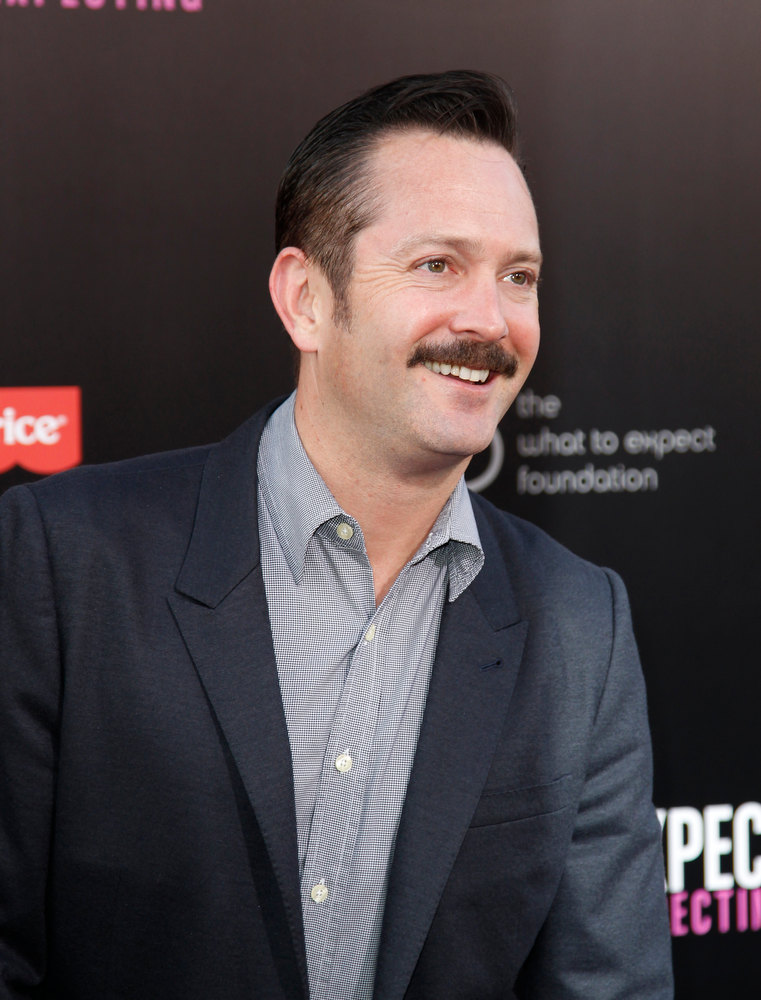 ". Cast member Thomas Lennon poses at the Los Angeles premiere of the film ""What to Expect When You\'re Expecting,\"" Monday, May 14, 2012, in Los Angeles. The film is released in theaters on May 18. (AP Photo/Danny Moloshok)"