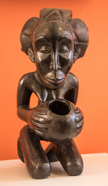 African wood carving at the Museu Afro-Brasileiro in the Pelourinho, Salvador, Brazil.
