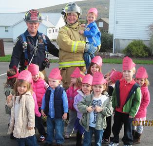 New England Fire Company visits Valley Christian Preschool, Valley Road, Tamaqua (10-17-2011)