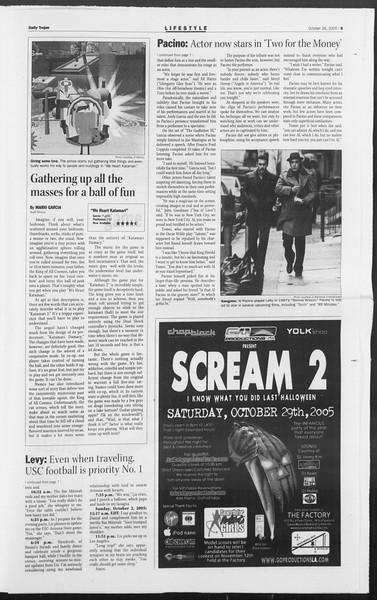 Daily Trojan, Vol. 156, No. 46, October 26, 2005