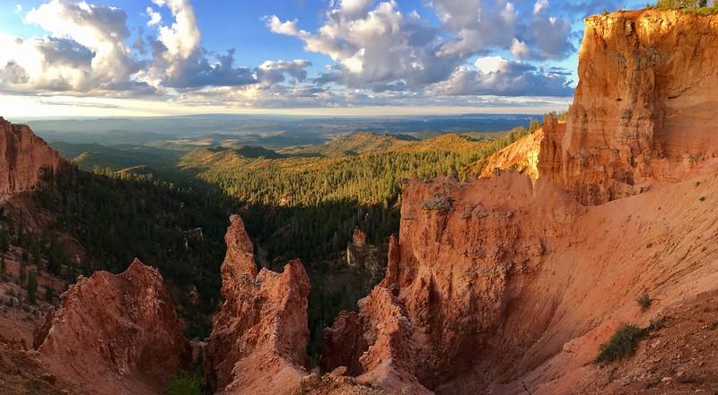 Spectacular sunrise over the cliffs
