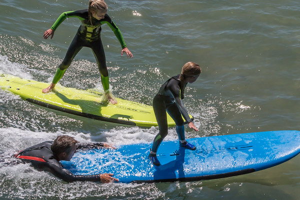 Surfing Lessons at Monterey, CA  6/17/2017