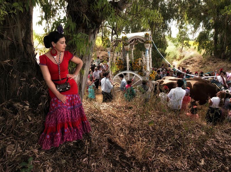 lady behind the tree, el rocio,andalucia, spain.jpg