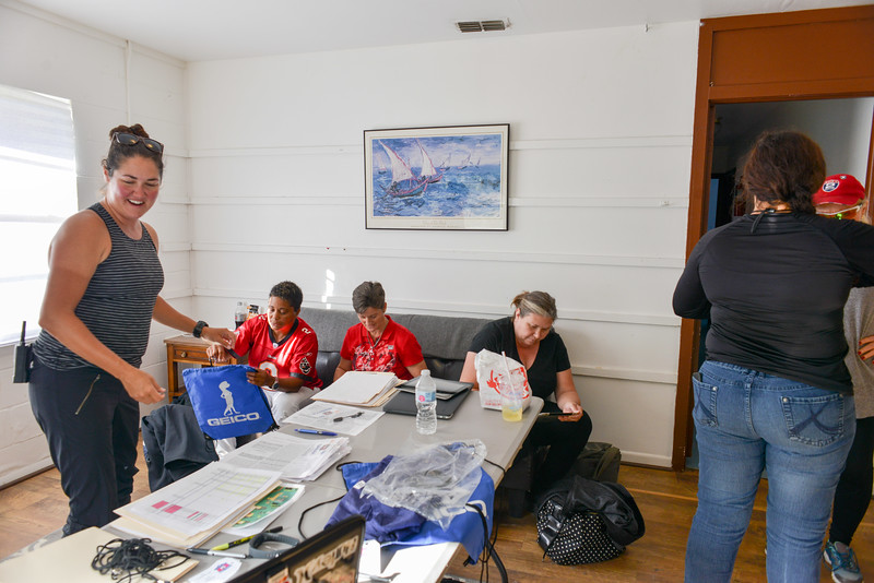 Participants check in on registration day for the 2017 Women's Initiative. Project Hero, a 501(c)3 non-profit organization, is dedicated to helping Veterans and First Responders affected by PTSD, TBI, illness, and injury achieve rehabilitation, recovery and resilience in their daily lives.  Photo by Tiffini Skuce