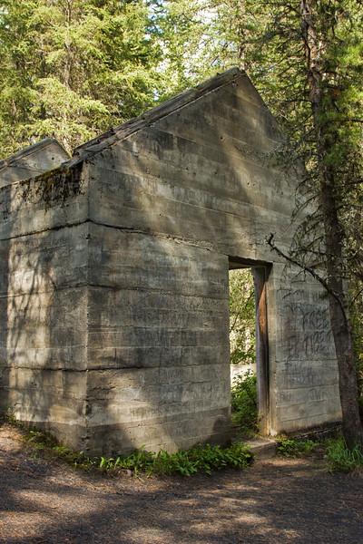 Old coal mining structure on Cascade Mountain, Banff National Park